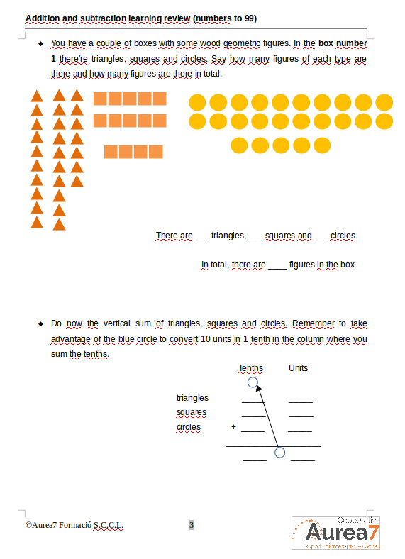 Aurea7 Math skills course sample