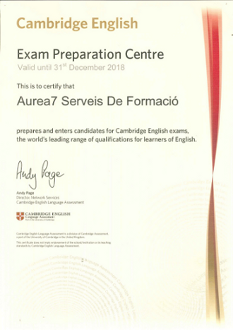 Aurea7 Cambridge exam preparation centre